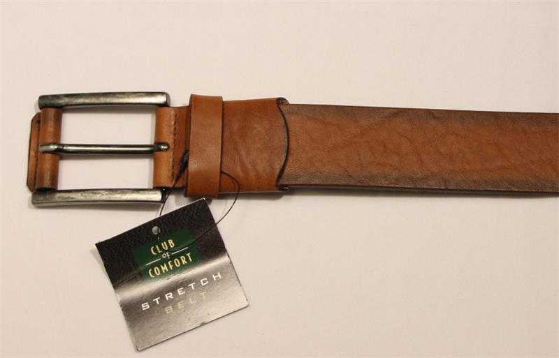 da1e2eee2c89c7 CLUB of COMFORT Jeans Leder Gürtel cognac 140 cm Stretch A54 | eBay