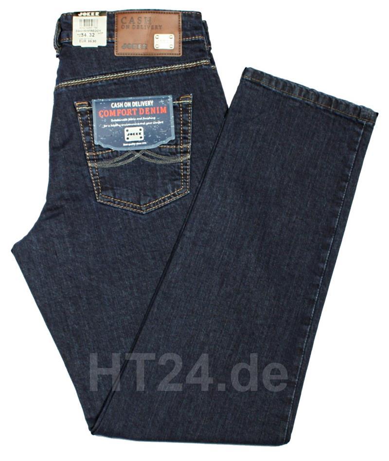 joker jeans freddy stretch 2442 201 darkblue rinsed herrenjeans schlank p ebay. Black Bedroom Furniture Sets. Home Design Ideas